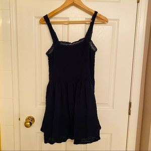 Wilfred Navy Blue Lace Trim Dress